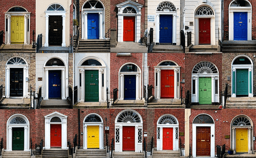 Цветове за входни врати